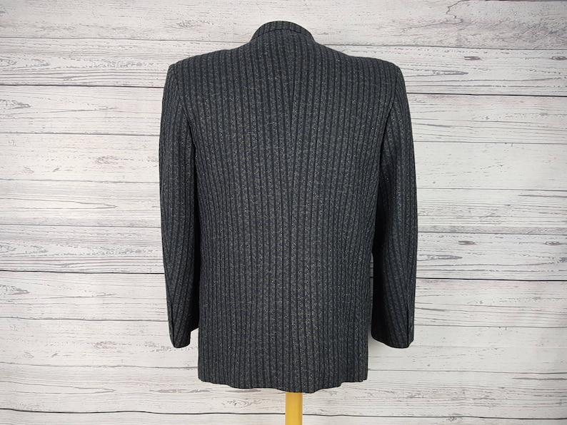 Vintage Sparkling Glitter Thread Double Breasted 40S Short Medium J Jaks Blazer Men/'s Sport Coat Suit Jacket Office Business