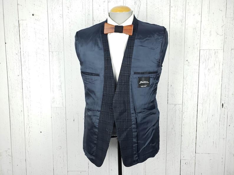 Vintage 80s Black /& Navy Blue Plaid Blazer Men/'s 40R Sports Coat 40 Regular Jacket 2 Buttons Retro Unique Winter Menswear Wedding Prom Wear