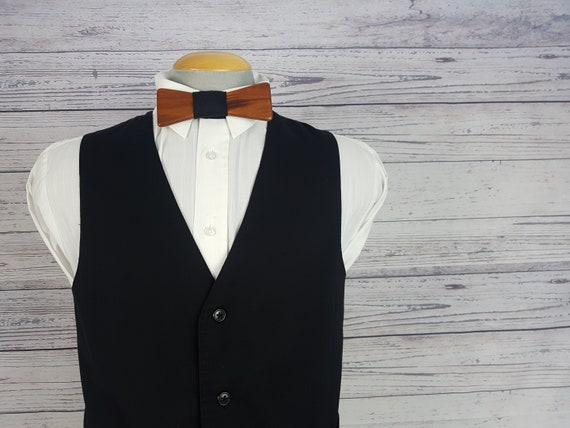 38r medium vintage hommes noir gilet protocole 4 bouton gilet