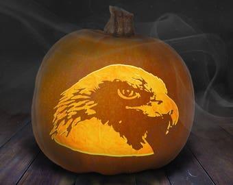 Eagle Pumpkin Carving Stencil Printable