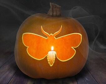 Moth Pumpkin Carving Stencil Printable