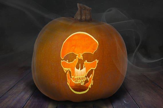 Skull Pumpkin Carving Stencil Printable