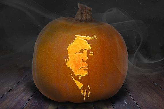 Donald Trump Pumpkin Carving Stencil Printable Etsy