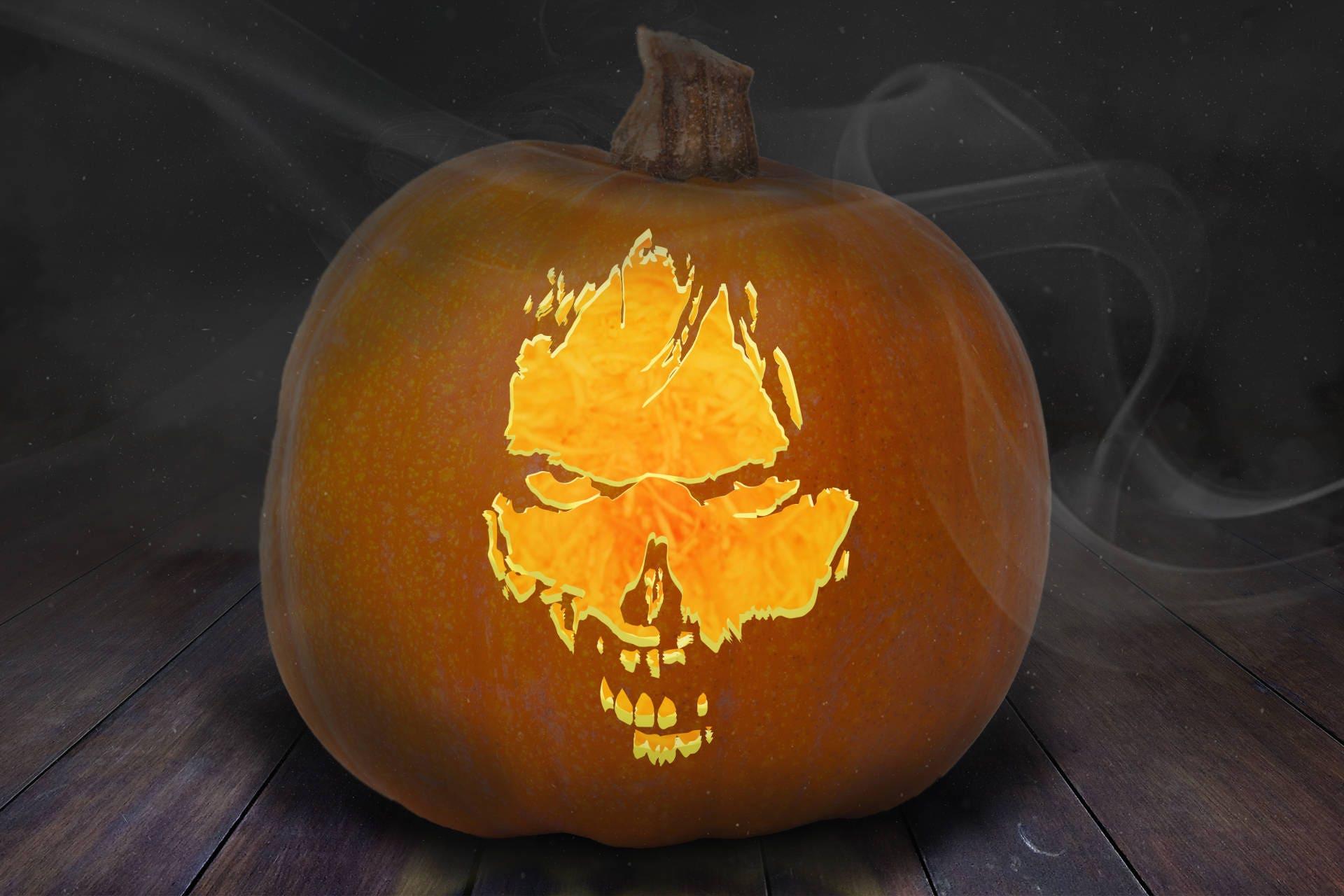 Zombie Pumpkin Carving Stencil Printable | Etsy