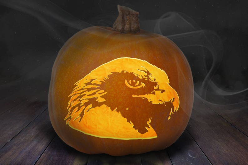 Eagle Pumpkin Carving Stencil Printable