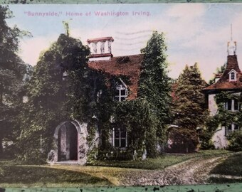 Vintage Postcard - 1913 - Sunnyside, Home of Washington Irving