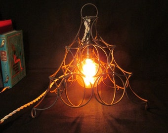 metal cage cone lamp