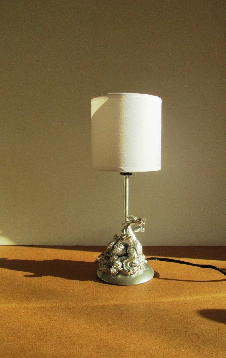 unique Silver Dragon lamp