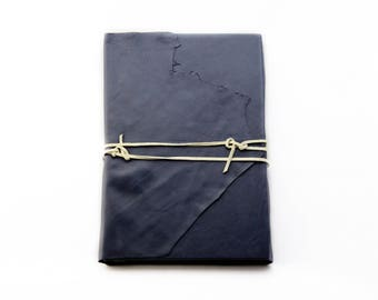 Genuine Leather Navy Hardback Journal