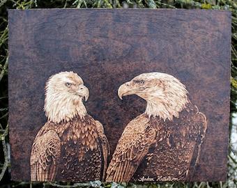 Eagles Pyrography Art