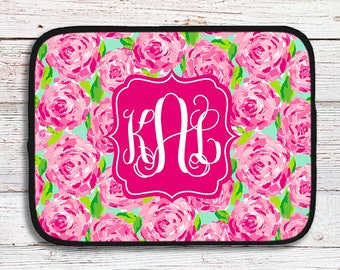 Monogrammed Lilly Inspired Tablet/Laptop Sleeve - First Impression