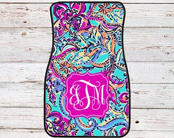 Monogrammed Lilly Inspired Car Mats - Bait and Switch