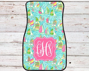 Monogrammed Lilly Inspired Car Mats - You Gotta Regatta
