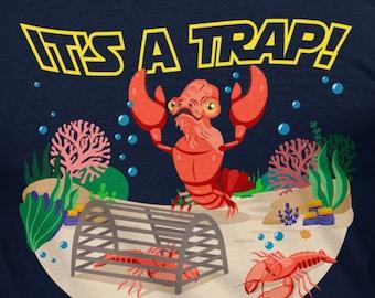 It's A Trap! Admiral Ackbar T-Shirt // Star Wars // Darth Vader // Death Star // Luke Skywalker // Han Solo Tee