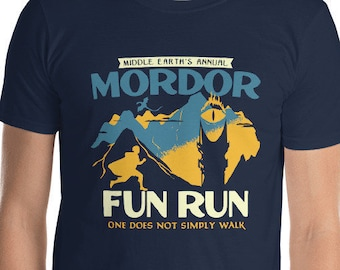 Mordor Fun Run T-Shirt // Lord of the Rings // LOTR // Tolkien // Mt. Doom // Sauron // Frodo and Sam // The One Ring