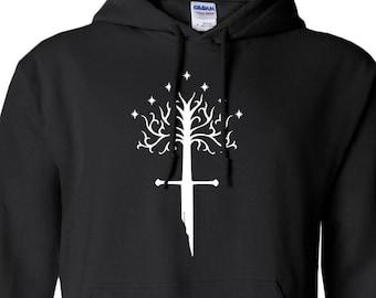 White Tree of Gondor & Shards of Narsil Hoodie // Aragorn // LOTR // Tolkien // Return of the King // Isildur // Lord of the Rings