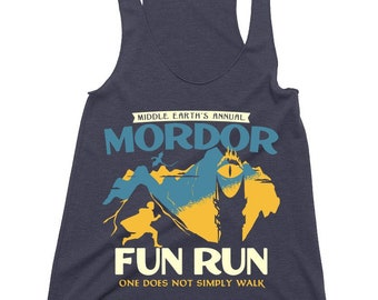 Mordor Fun Run Ladies Tank Top // Lord Of The Rings // Lotr // Tolkien // Mt. Doom // Sauron // Frodo And Sam // The One Ring