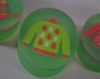 Ugly Christmas Sweater Holiday Soap - Single Bar