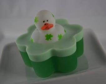 St. Patrick's Day Ducky Soap - Single Bar
