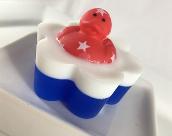 Fourth of July Ducky Soap - Single Bar