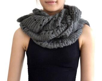 Scarf shawl collar wool (M132)