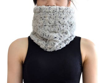 Scarf shawl collar wool Faux fur (M97)