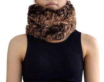 Scarf shawl collar wool Faux fur (M90)