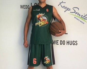 cae1b796a Personalized Full Sublimated Custom Basketball Uniform Set with Basketball  Jersey and Basketball Shorts