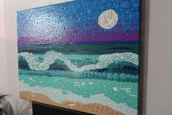 Dot Ocean Painting Lydia May Hand Painted Original Beach