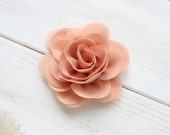 Vintage Peach Fabric Flower, Blooming Chiffion Rose Flower, DIY Baby Headbands, Wholesale Chiffon Flowers, Wedding Flower