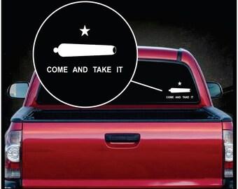 Come Take it Cannon Car Window Vinyl Decal Sticker