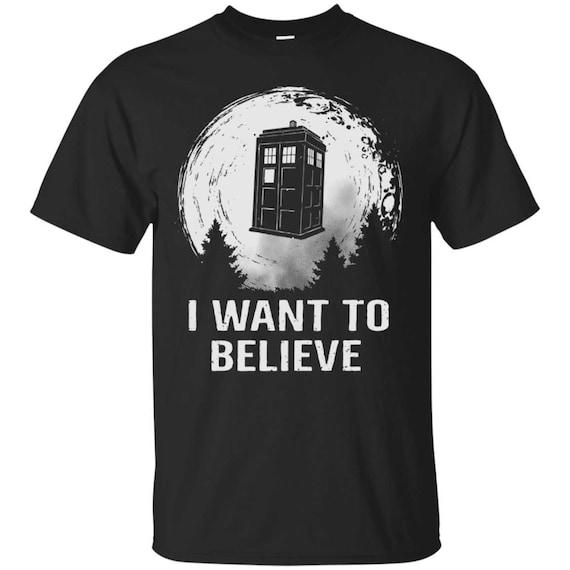 I Want To Believe TARDIS Parody T-shirt, Adults
