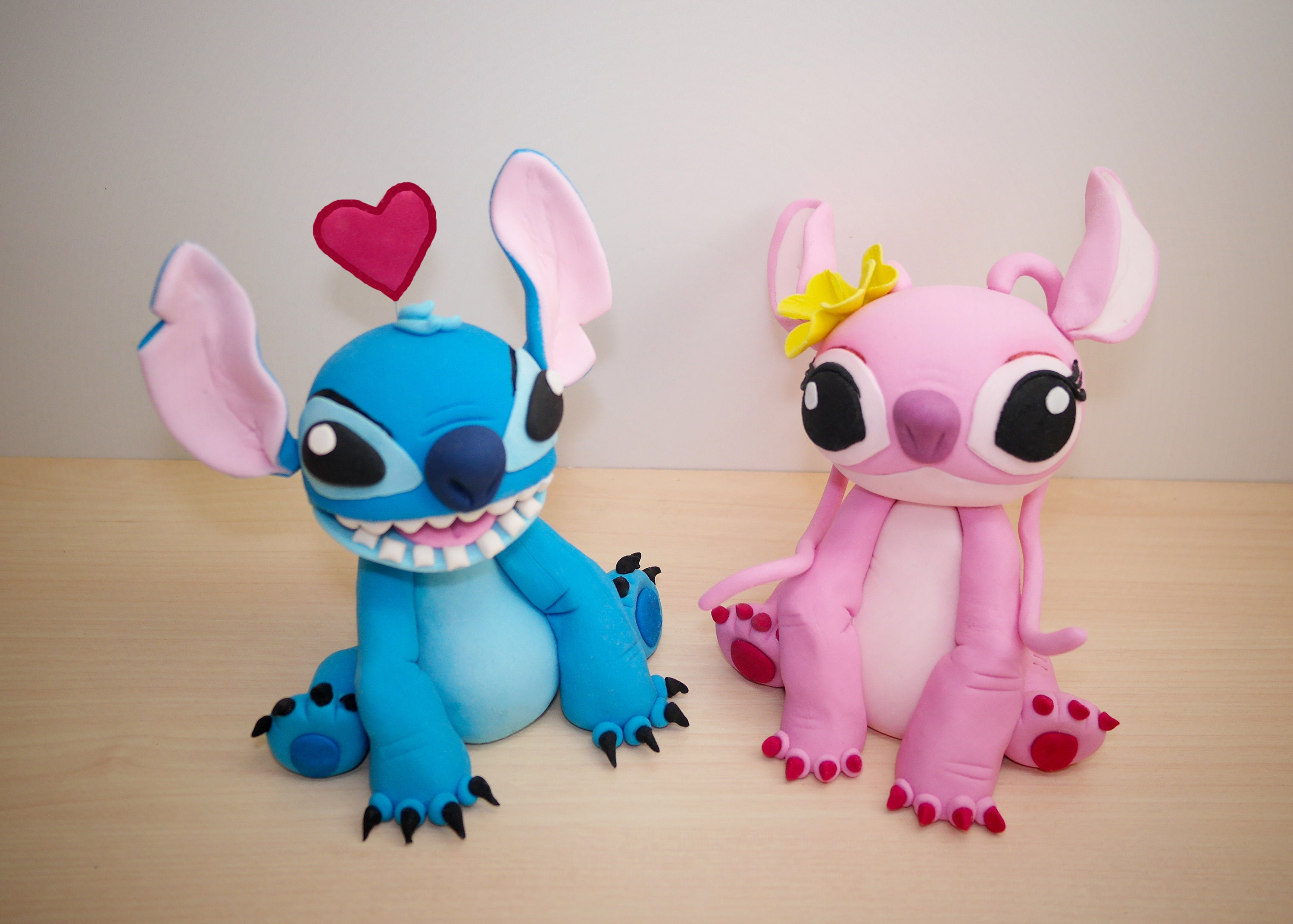 Stitch and Angel Cake Toppers Stitch cake topper Angel ...