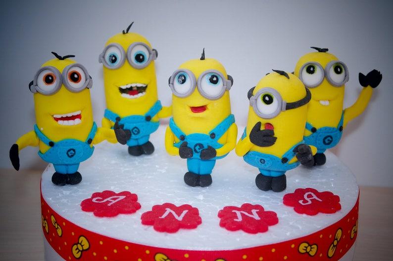 Gunstling Cake Topper Minion Geburtstag Minion Party Etsy