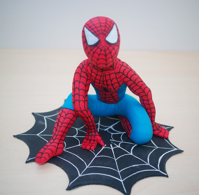 Spider Man Cake Topper Birthday Spiderman