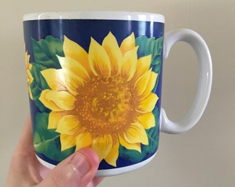 Bold & Beautiful Colored Sunflower Ceramic Coffee Mug