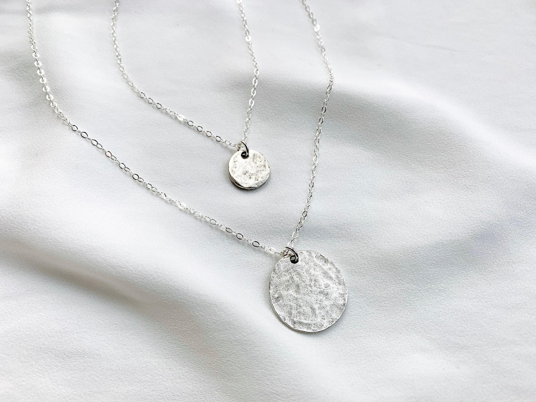 necklace silver-door medallion