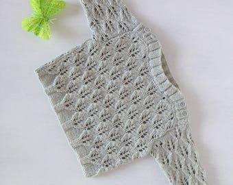 Lacy grey sweater size newborn
