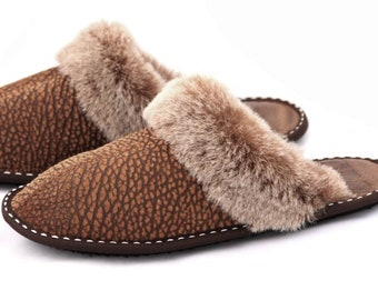 f9903169457 Ladies Authentic Sheepskin Slippers Highest Quality Genuine Suede Leather  Women s Home Shoes Boots Moccasins