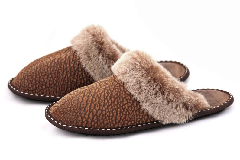 e5b78e949cd36 Ladies Authentic Sheepskin Slippers Highest Quality Genuine Suede Leather  Women's Home Shoes Boots Moccasins