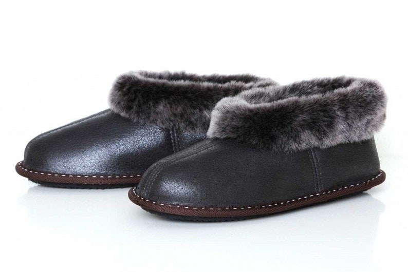Natural Leather Sheepskin Slippers Moccasins Handmade Shoes for Womens Ladies