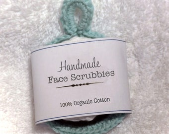 Face scrubbies - 100% organic cotton
