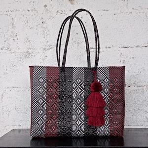 Made in Oaxaca Oaxaca Handwoven Tote LARGE MEXICAN PLASTiC BAG Beach bag Market Bag