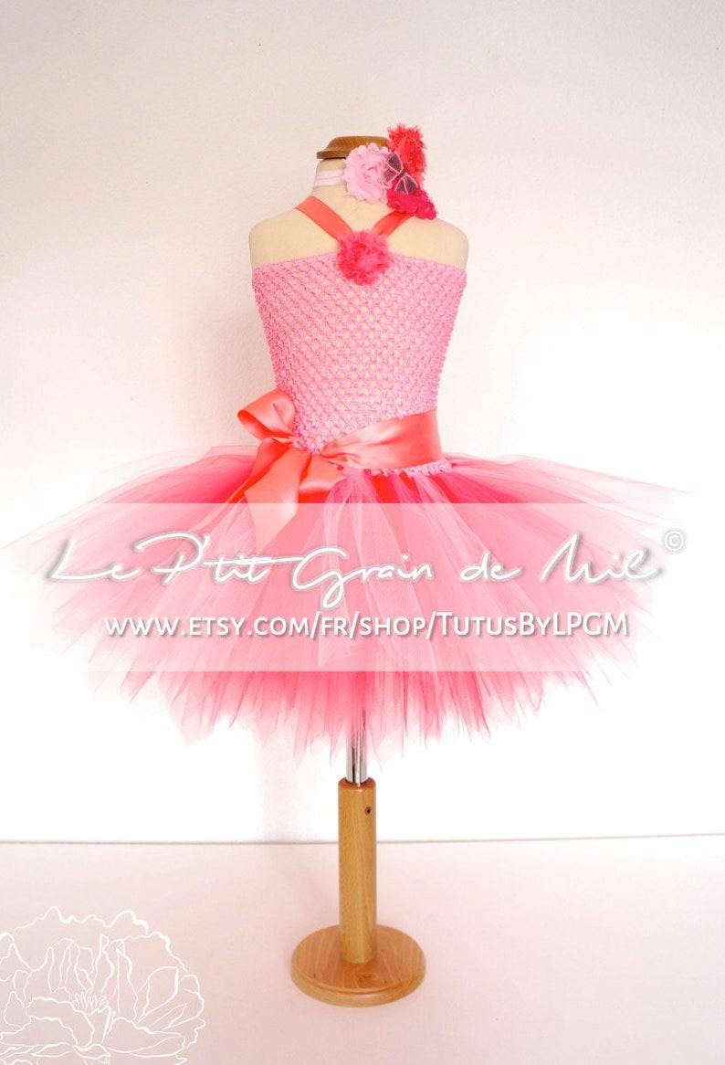 Party Short Tutu Dress Coral Pink Flower Girl Dress Bridesmaid Tulle Dress Birthday Christmas Girl Baby Wedding Tutu Teen