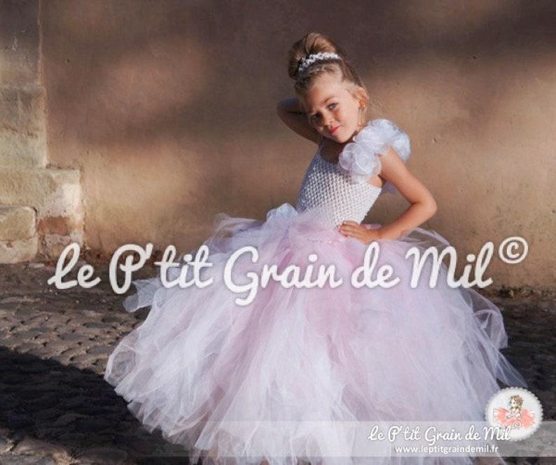 954b76e0abe95 Robe de Princesse Petite Fille Robe Tutu Longue Cérémonie