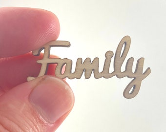 Mini Dollhouse Cursive Family Sign - 1:12 Scale Rustic Decor