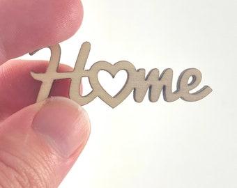 Mini Dollhouse Cursive Home Sign - 1:12 Scale Rustic Decor