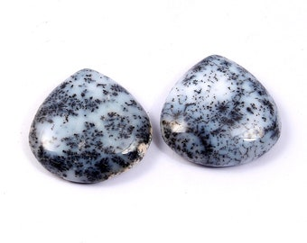 natural dendrite opal smooth cabochon round shape size 16x16 mm approx 3 pics lot designer cabochon high quality loose gemstone.