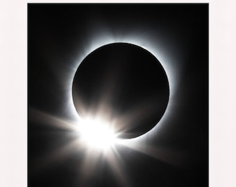 Total Solar Eclipse 2017 MATTED PRINTS Diamond Ring Effect Sun Moon Photograph Print Mat Matted Original Signed