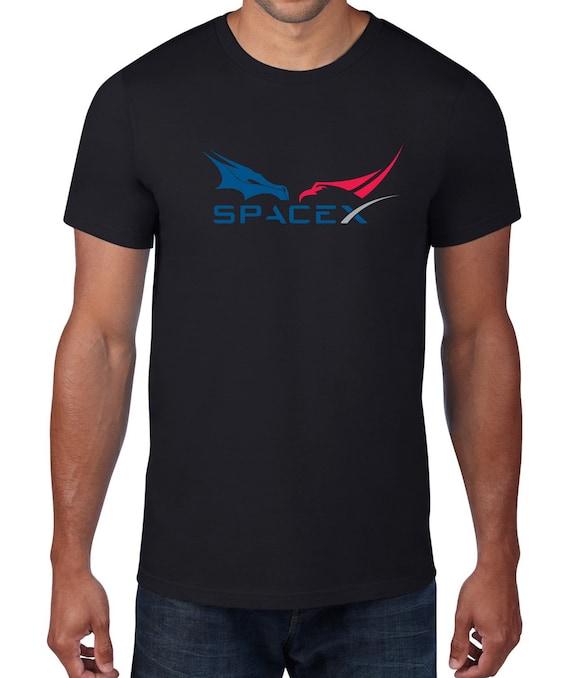 Dragon Spacecraft Logo Space X Elon Musk Tesla T Shirt